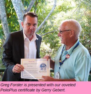 Guest Speaker 19/04/17 – Greg Forster
